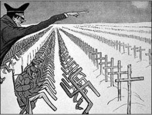 caricature croix soldats
