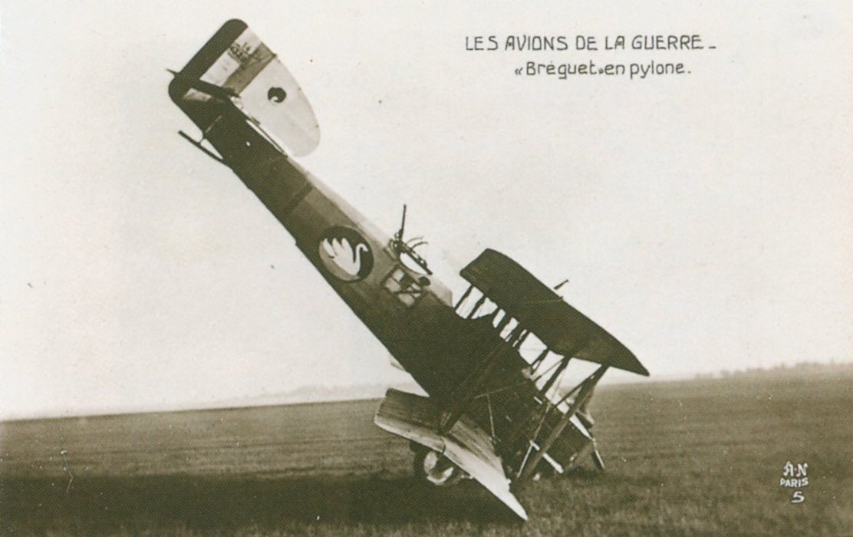 Carte Postale Postcard 1914-1918 Bréguet en pylone Bréguet in pylon